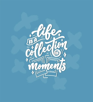 Путешествие стиль жизни вдохновение цитата, рисованной надписи плакат. мотивационная типография