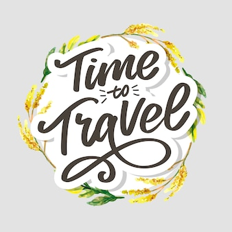 Travel life style inspiration quotes lettering. motivational typography.