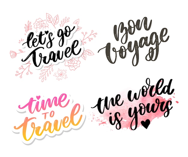 Travel life style lettering