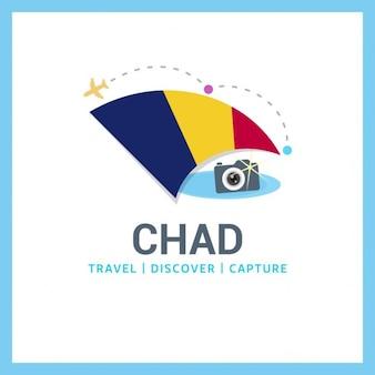 Travel logo of chad flag