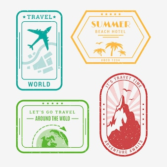 Travel logo collection