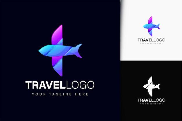 グラデーションの旅行ロゴデザイン