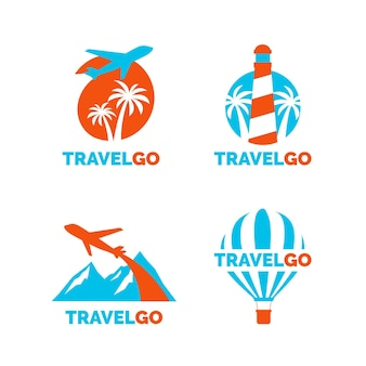 Travel logo templates collection