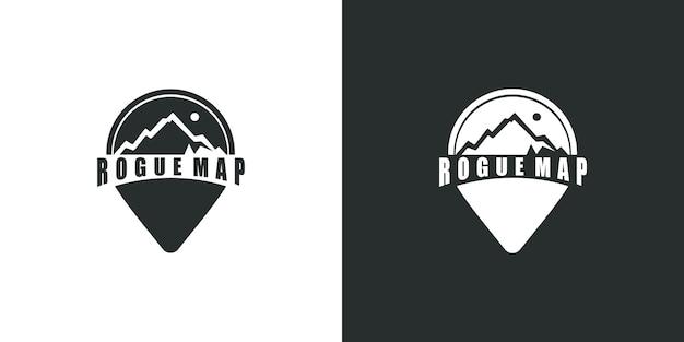 Логотип путешествия на куспид