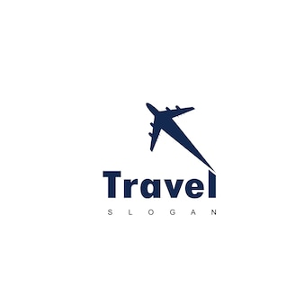 Travel logo with plane symbol