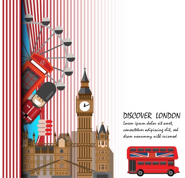 Travel to london presentation template.