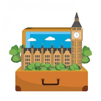 Travel luggage cartoon