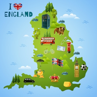 Travel map for england