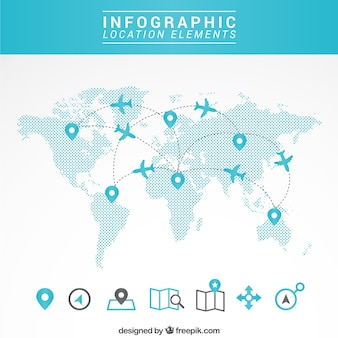 World map vectors photos and psd files free download travel map infographic gumiabroncs Choice Image