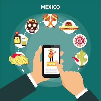 Travel to mexico illustration