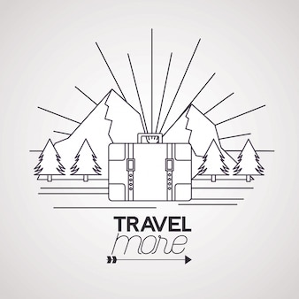 Travel more illustration