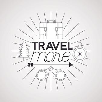 旅行のポスターイラスト