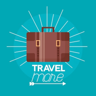 Travel more poster illustration