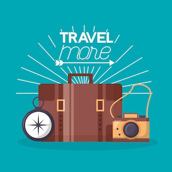 Travel more poster illustration