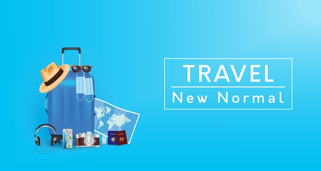 Travel new normal lifestyle background