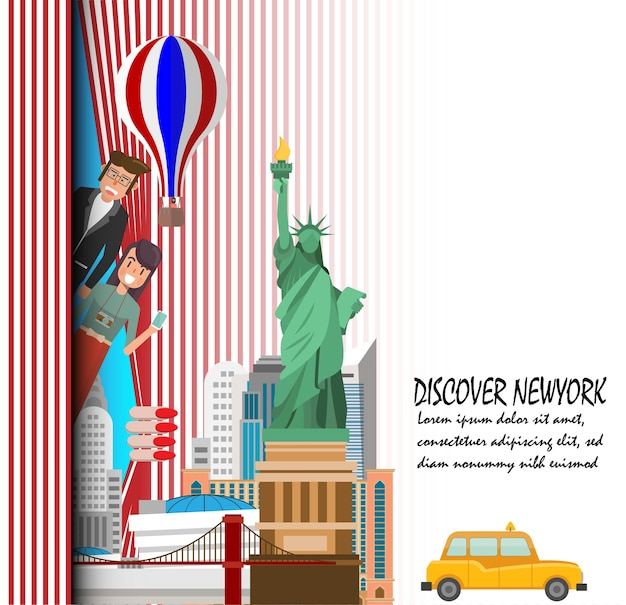 Travel to new york presentation template.