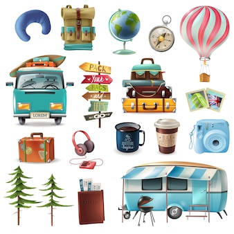 Travel objects set