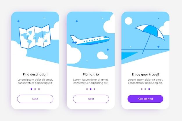 Экран приложения для путешествий