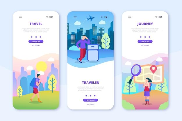 온 보딩 앱 화면 여행