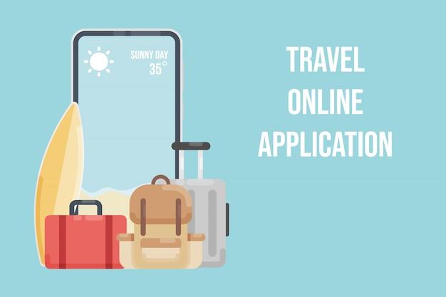 旅行オンラインアプリケーション。