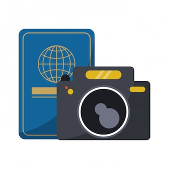 Travel passport and photographic camera