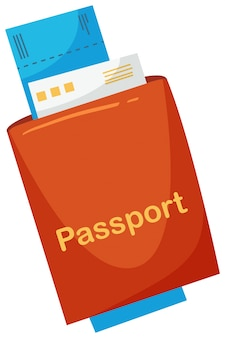A travel passport on white background