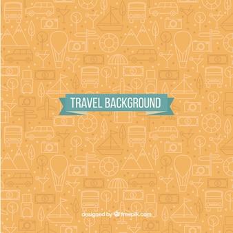 여행 패턴 배경