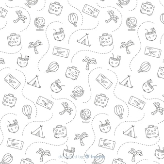 Travel pattern background