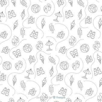 Travel pattern background
