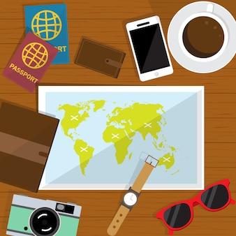 Travel plan background