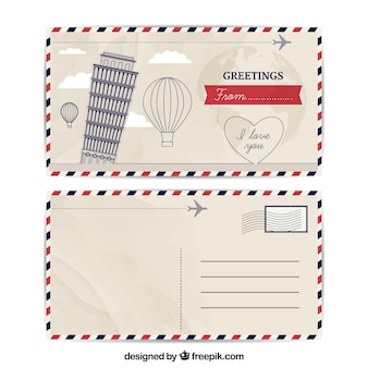 Postcard Template Vectors Photos And Psd Files Free Download