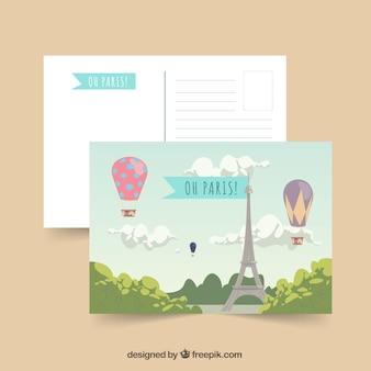 Шаблон открытки для путешествия