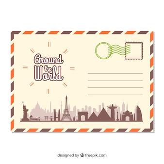 Travel postcard template