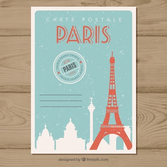 Travel postcard in vintage style