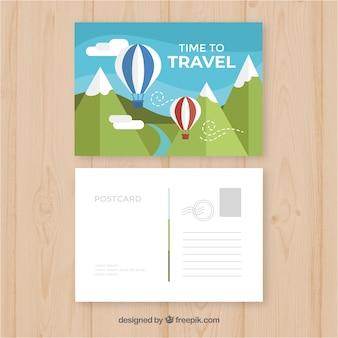 Cartolina di viaggio con destinazione