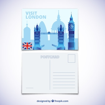 Travel postcard with london city