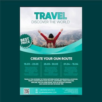 Travel poster best price template