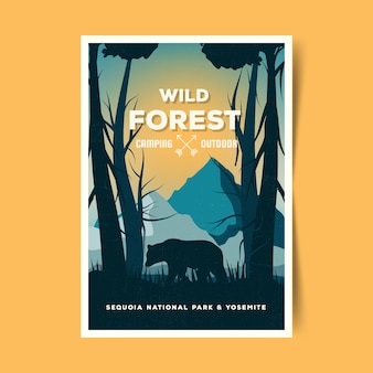 Travel poster concept illustrated