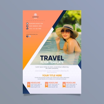 Travel poster design with photo
