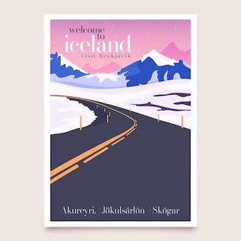 Travel poster illustrated concept