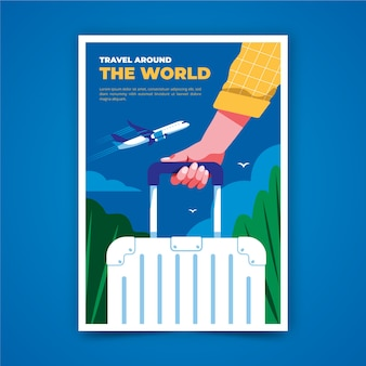 Travel poster illustrated