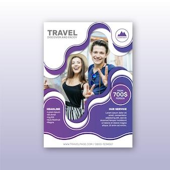 Дизайн шаблона плаката путешествия