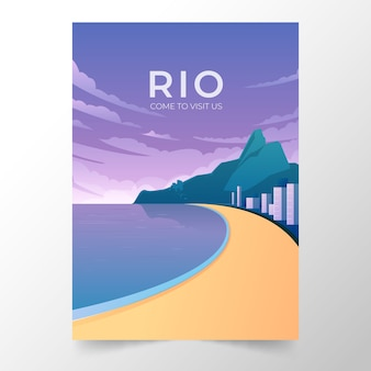Travel poster template style