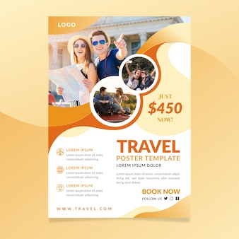 Travel poster template theme
