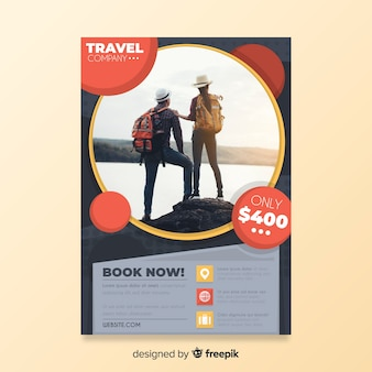 Travel poster template with special offer