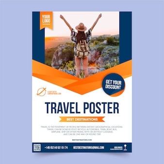 Travel poster with discount