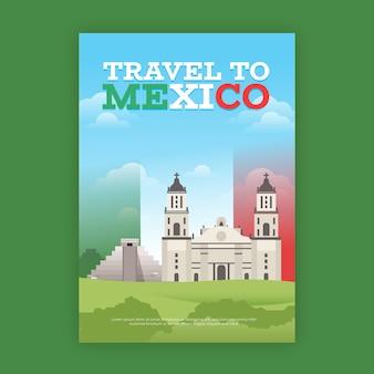 Туристический плакат с мексикой