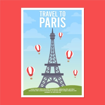Travel poster with paris