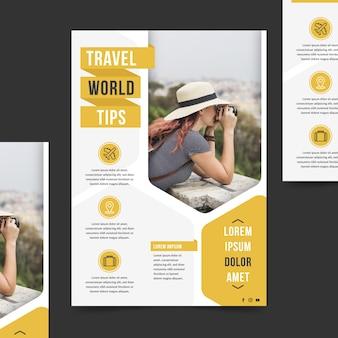 Туристический плакат с фотографией