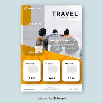 Travel posture template with photo